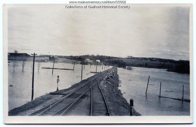 Flood in Guilford, 1923