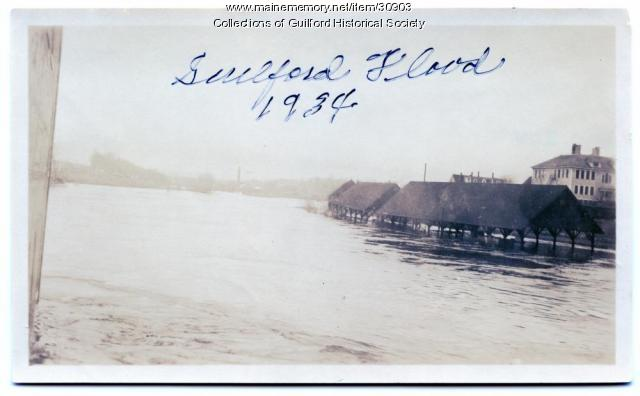 Flood, Guilford Coal Sheds, 1934