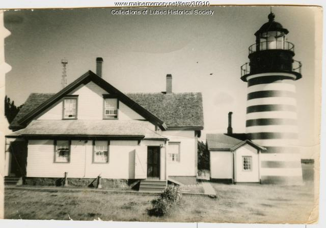 West Quoddy Head Light Station, Lubec, ca. 1940