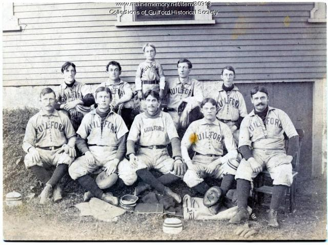Town of Guilford Baseball Team, 1898