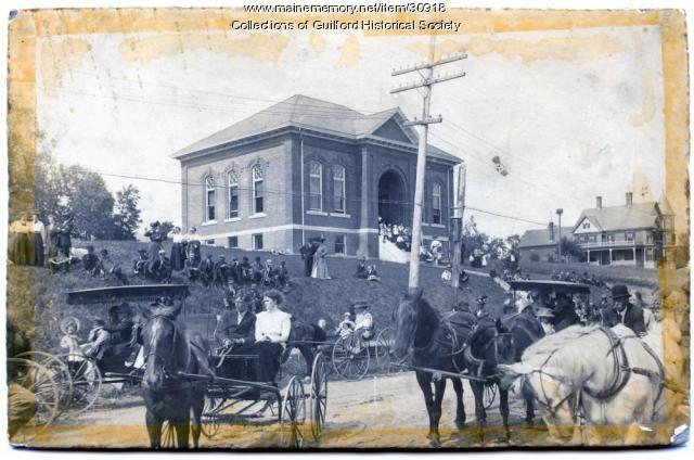 A Celebration on Water Street, Guilford, ca. 1908