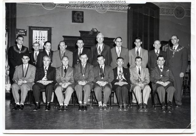 Meeting at the Guilford Odd Fellows Hall, ca. 1960