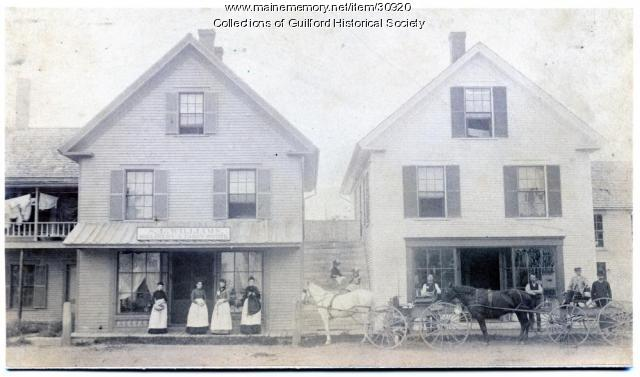 Elm Street Businesses, Guilford, ca. 1880
