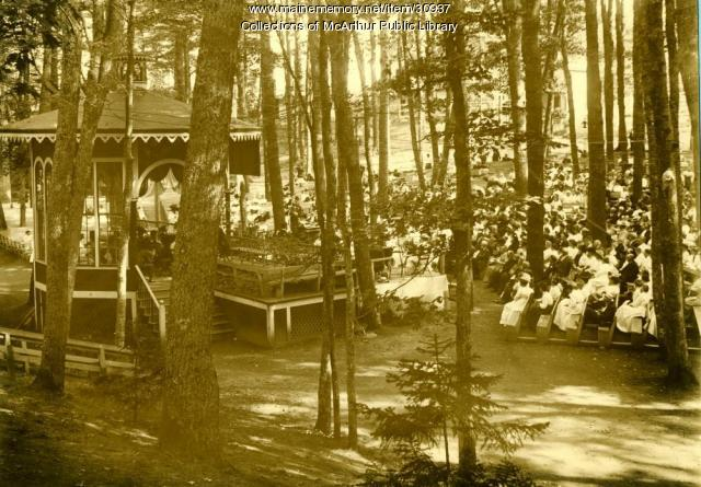 Camp Meeting Scene, Old Orchard Beach, ca. 1910