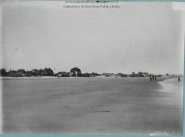 Beach near Pier, Old Orchard Beach, 1912