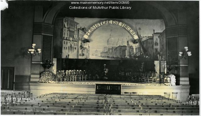 Opera House Stage set, Biddeford, 1890