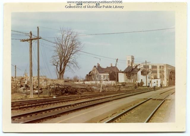 Aftermath of Hooper Street fire, Biddeford, April 1963