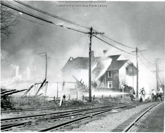 Diamond National-Hooper Street Fire, Biddeford, 1963