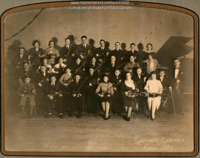 Lauzon's Ensemble, Biddeford, 1933