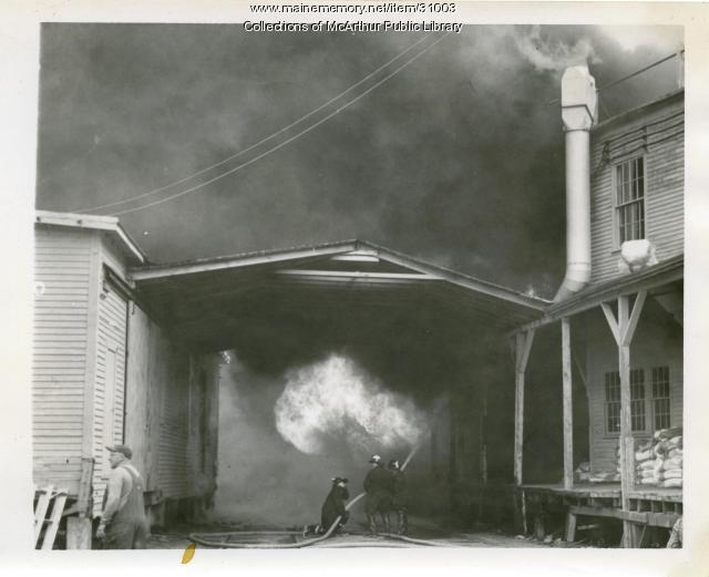 Fire at Diamond National Match Factory, Biddeford, 1963