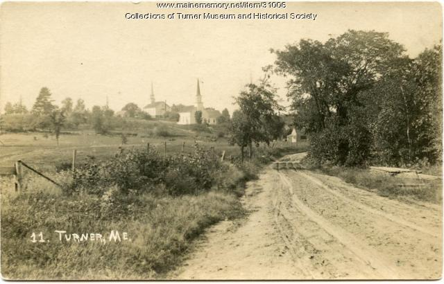Two churches, Turner Village, ca. 1920