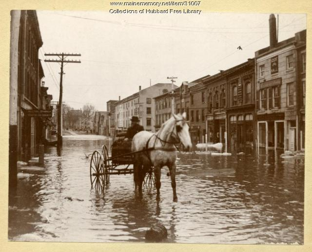 Flood, Water Street, Hallowell, 1896