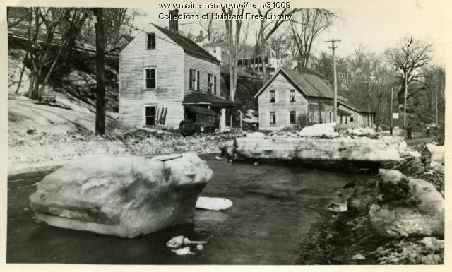 Lower Water Street, Hallowell, 1936 Flood