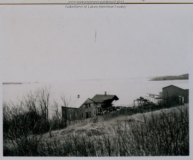 Demolishing camps, Lubec, ca. 1960s