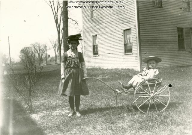 Bernice Blanchard and Laura Chase, Cumberland, 1901