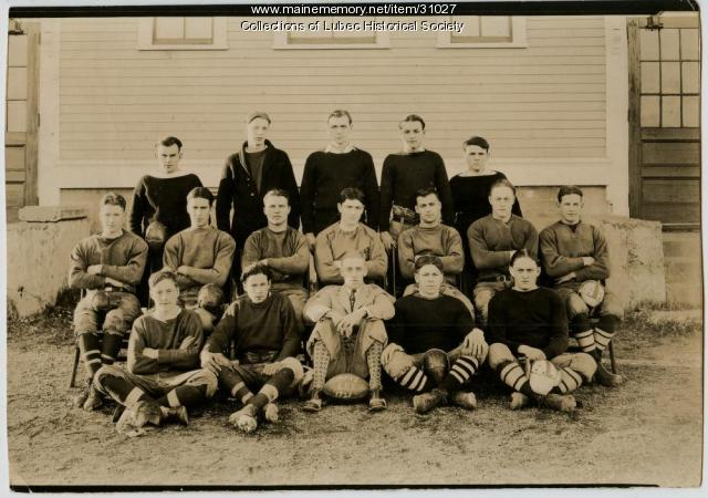 Football champions, Lubec, 1928