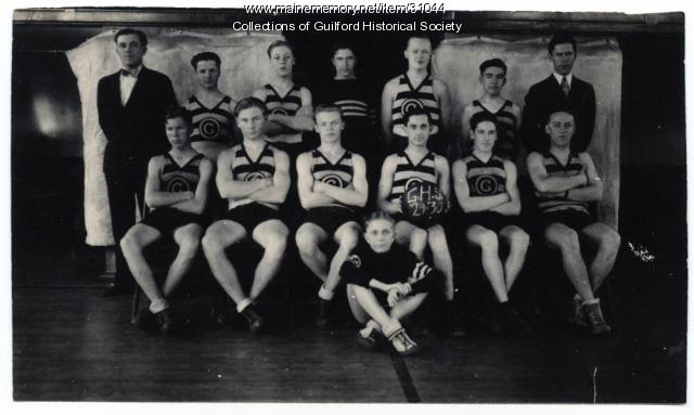 Guilford High School Basket Team, 1929