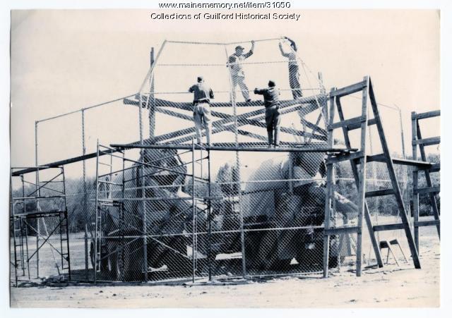 Backstop construction, Guilford, 1965