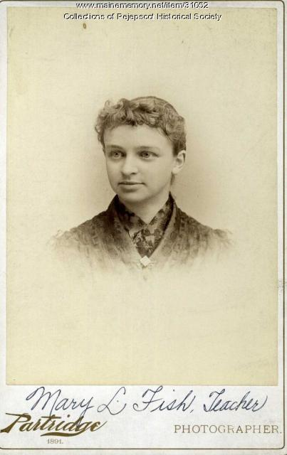 Mary L. Fish, Brunswick, ca. 1890