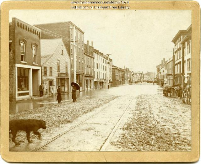 Flood of 1896, Water Street, Hallowell