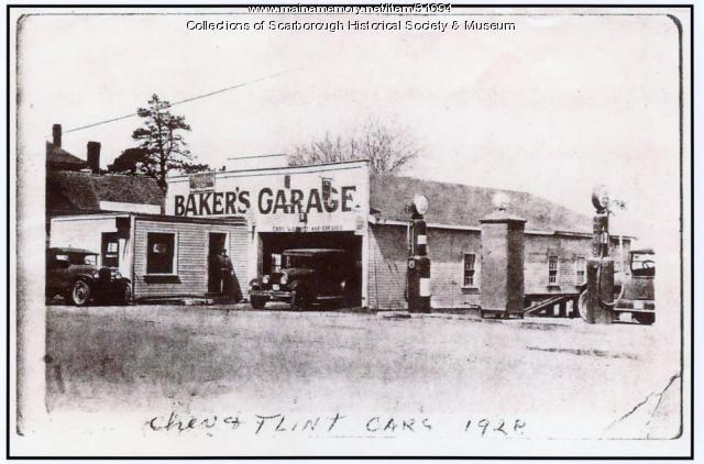 Baker's Garage, Scarborough, 1928