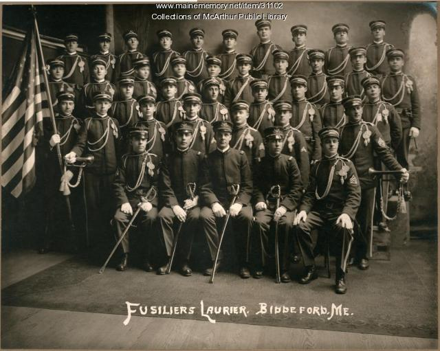 Fusiliers Laurier (Laurier Rifles), Biddeford, 1912