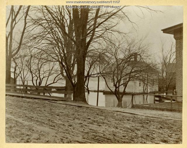 Kennebec River Flood, Joppa, Hallowell, 1896