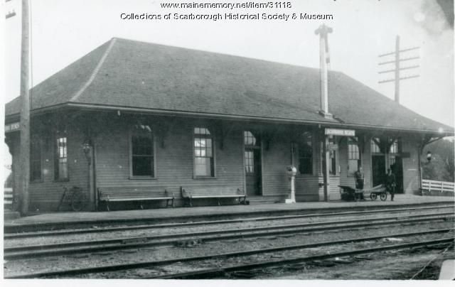 Scarboro Beach Railroad Station, 1909
