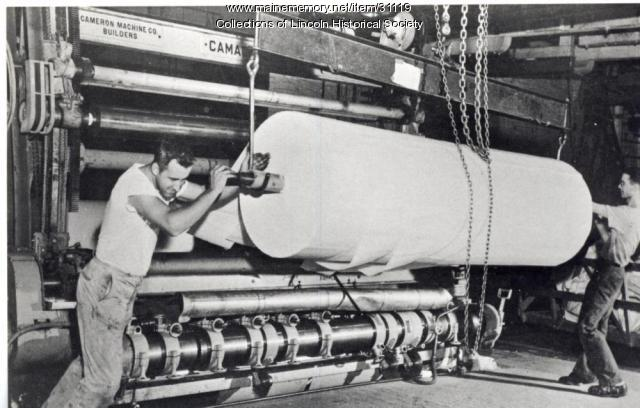 Paper winder, Lincoln, ca. 1950