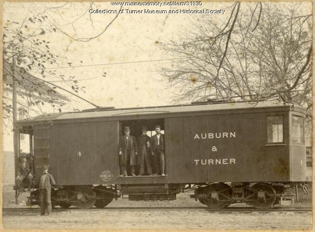 Turner Railroad Car, Turner Village, ca. 1907