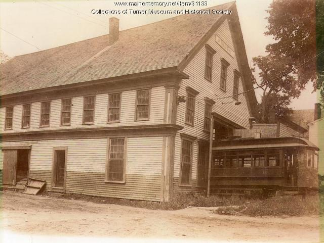 Turner Railroad Carbarn, Turner Village, 1907