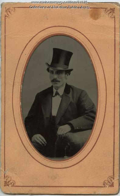 Portrait by photographer Benjamin Cole of Biddeford, ca. 1870
