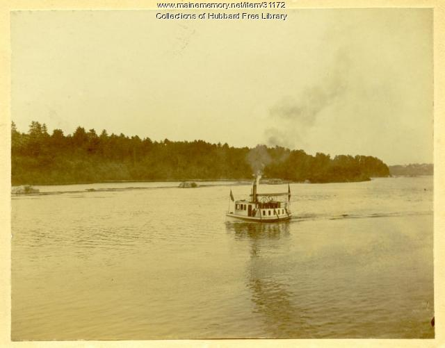 Steamer, Lizzie M. Snow, Kennebec River, Hallowell, ca. 1905
