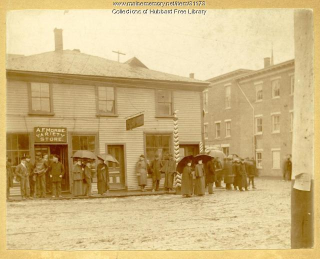 A. F. Morse Variety Store, Hallowell, 1896