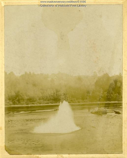 Channel Blasting, Kennebec River, Hallowell, ca. 1890