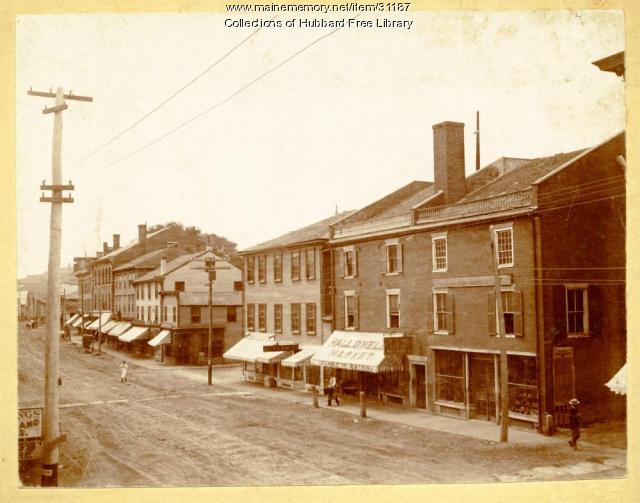 West Side, Water Street, Hallowell, ca. 1900