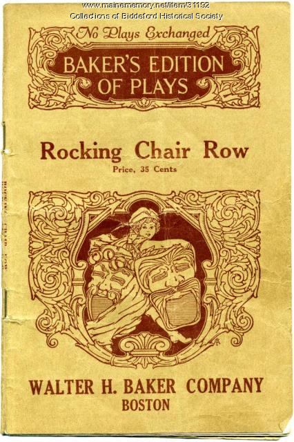 Playbook used by the Thursday Club, Biddeford, 1930