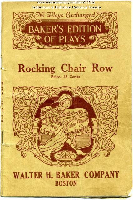 Playbook used by the Thursday Club, Biddeford, 1930