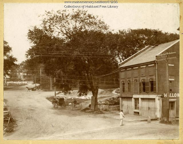 Ingraham's Corner, Winthrop and Water Streets, Hallowell, ca. 1895