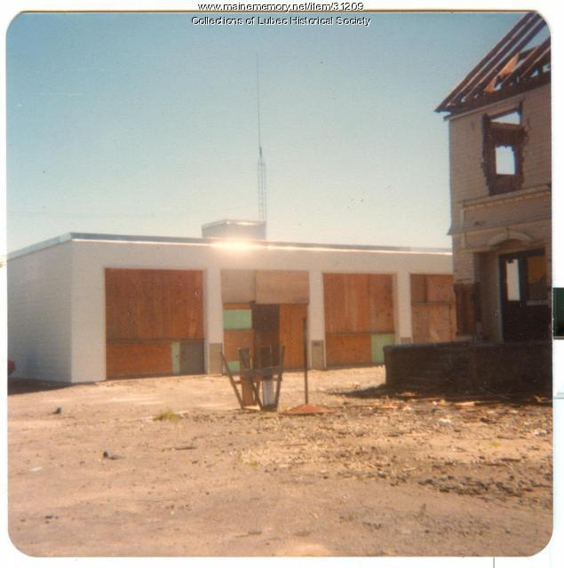 New firehouse, Lubec, 1979