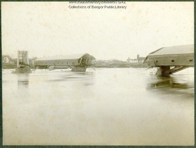 Covered bridge damage, Bangor, 1902