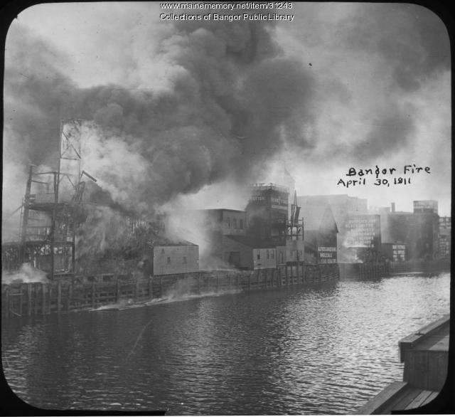Broad Street fire, Bangor, 1911