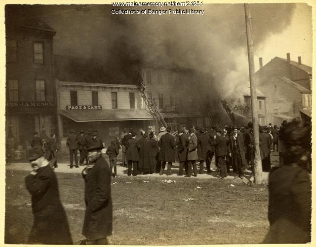 Fire in Bangor, 1891