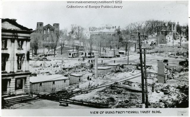 Bangor fire ruins, 1911