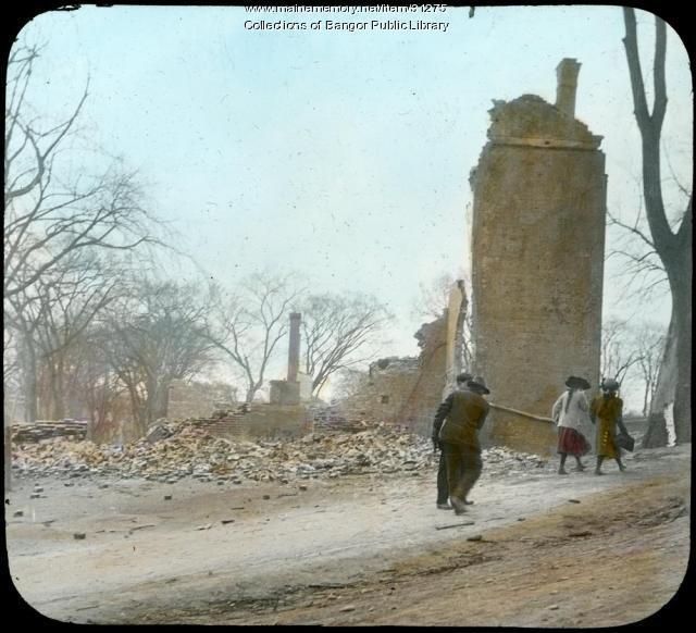 Baptist Church after fire, Bangor, 1911