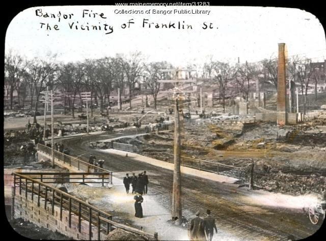 Franklin Street, Bangor, 1911
