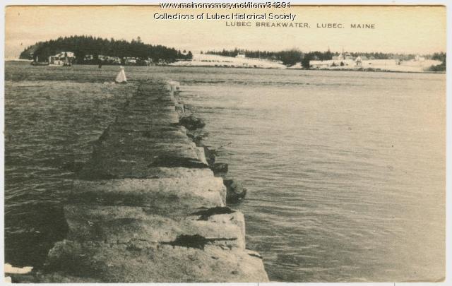 Breakwater, Lubec, ca. 1930
