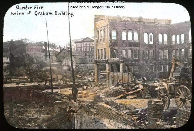 Ruins of Graham Building, Bangor Fire, 1911