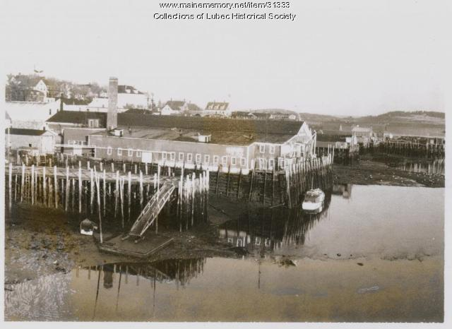 Waterfront at low tide, Lubec, ca. 1962