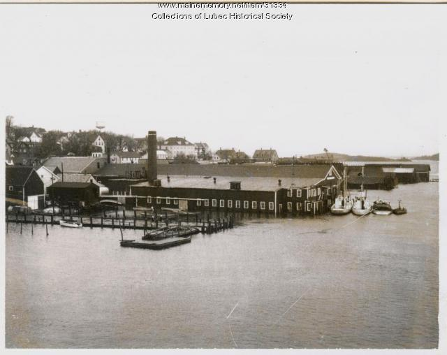 Waterfront at high tide, Lubec, 1963